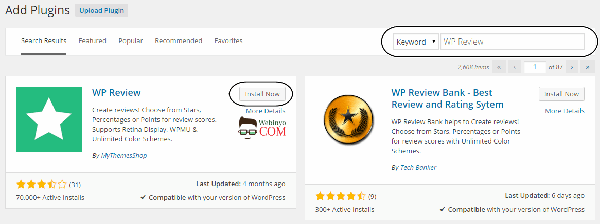Wordpress Derecelendirme - İnceleme Eklentisi - WP Review 1