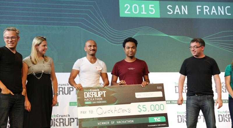 Disrupt SF 2015 Hackhatonun galibi, 3D Touch alternatifi QuickActions oldu