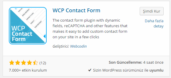WCP Contact Form