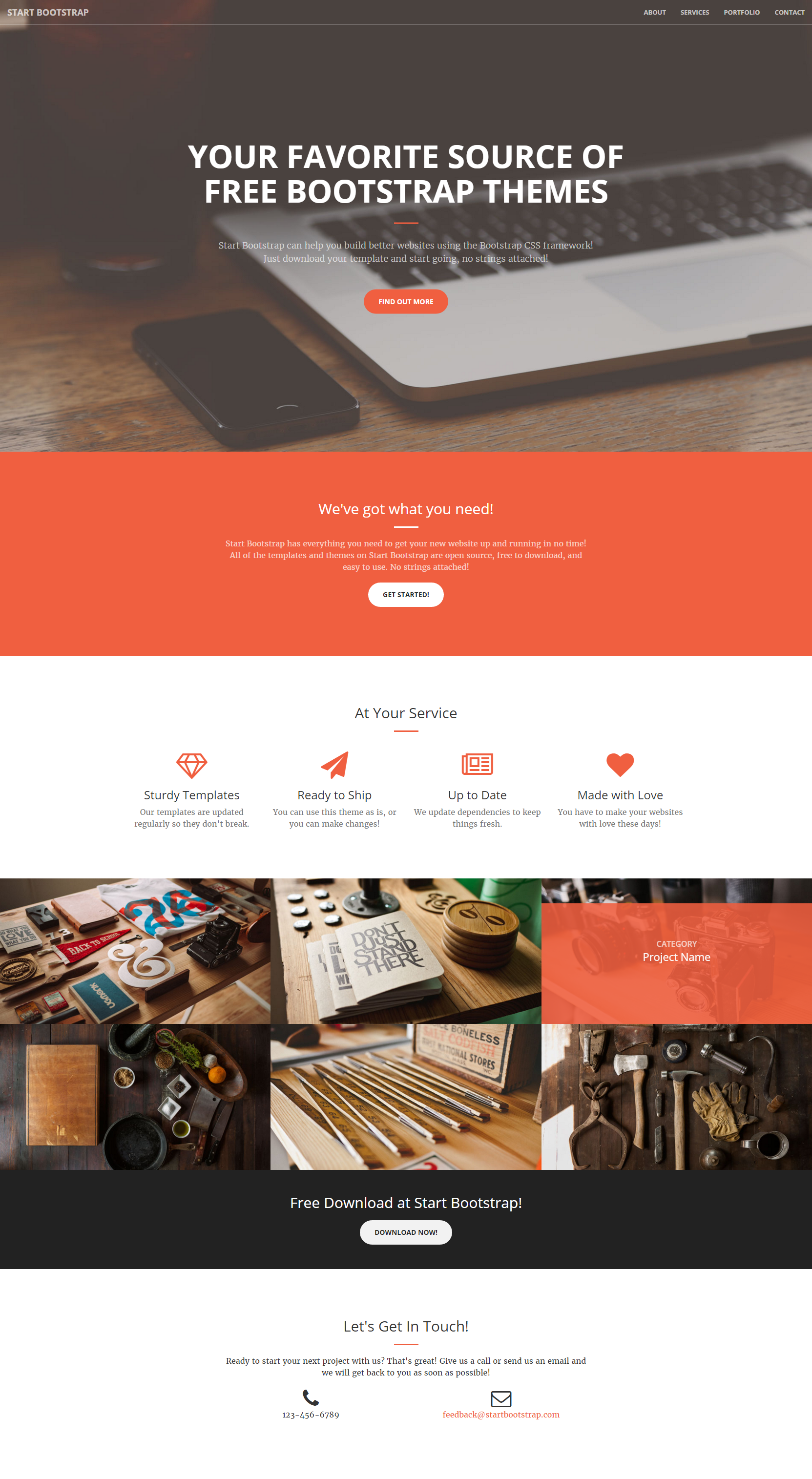 Creative Start Bootstrap Theme
