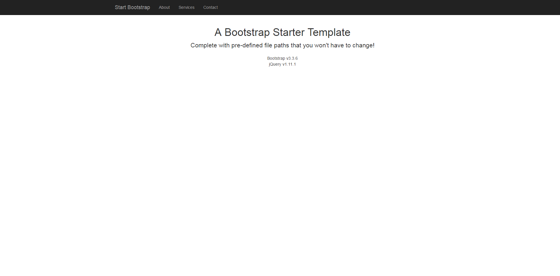 Bare   Start Bootstrap Template