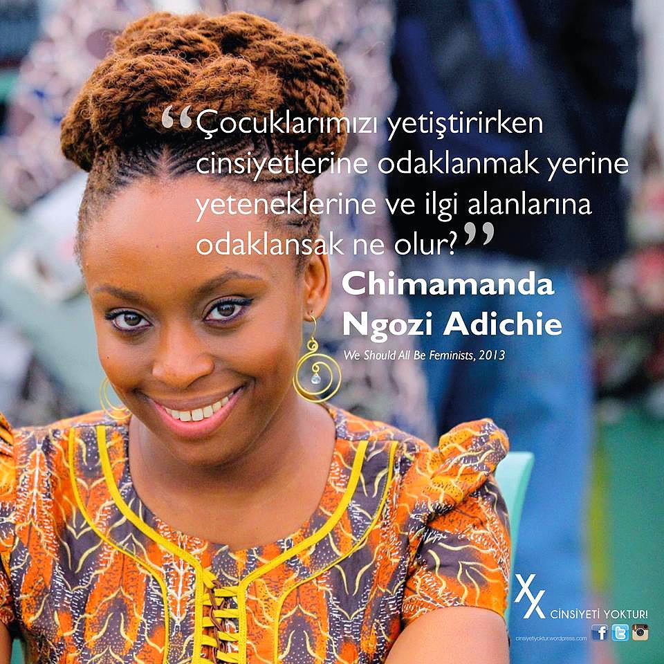 chimamanda adichie speech Today at harvard university, chimamanda ngozi adichie told the graduating class of 2018 an anecdote about meeting an established male writer at a conference, well before she herself was famous.