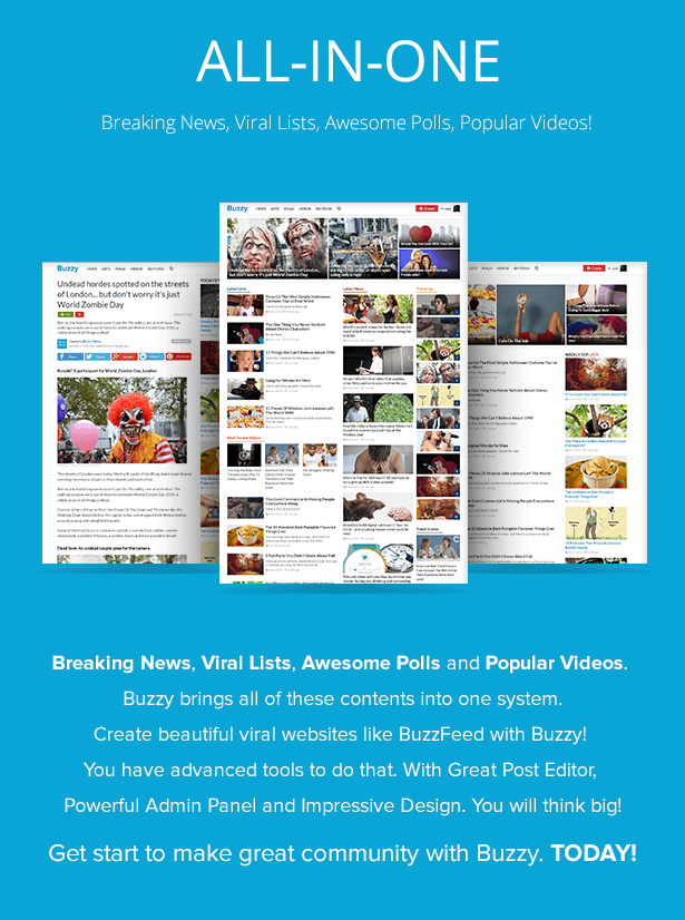 Buzzy - Onedio Tarzı Haber, Viral Liste, Anket, Test ve Video Scripti 1