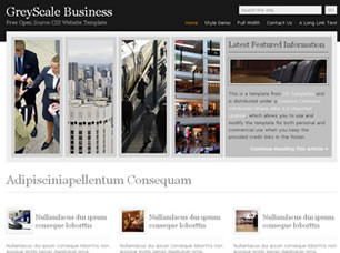 GreyScale Business Free HTML Templates