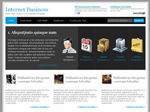 Internet Business Free HTML Templates