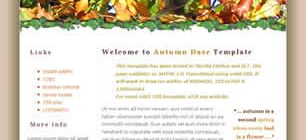 Autumn Daze Free HTML Templates