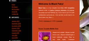 Black Fairy Web Site Tasarımı