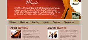 College of Music Web Site Tasarımı