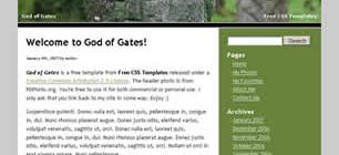 God of Gates Web Site Tasarımı