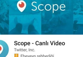 Periscope gitti, Scope geldi!