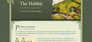 The Hobbit Web Site Tasarımı