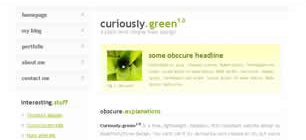Curiously Green 1.0 Web Site Tasarımı