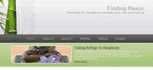 Finding Peace Web Template