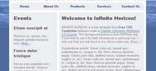 Infinite Horizon Web Site Tasarımı