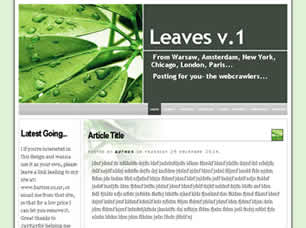 Leaves v.1 Web Site Tasarımı