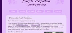 Purple Perfection Web Site Tasarımı