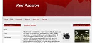Red Passion Web Template