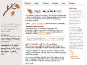 Slight Amnesia v1.0 Web Site Tasarımı