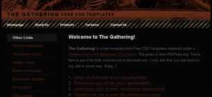 The Gathering Web Site Tasarımı