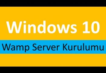 Windows 10 Wamp Server Kurulumu