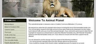 Animal Planet Web Template