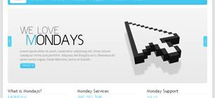 Mondays Web Template