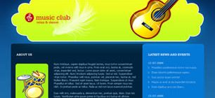 Music Club Web Site Tasarımı