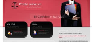Private Lawyer Co. Web Site Tasarımı