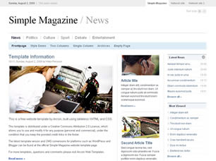 Simple Magazine Web Site Tasarımı