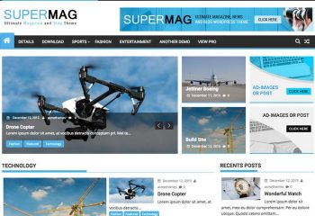 SuperMag : Ultimate Magazine, News and Blog WordPress Themes