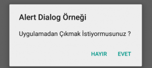 Android AlertDialog Example