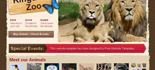 Animal Kingdom Zoo Web Site Tasarımı