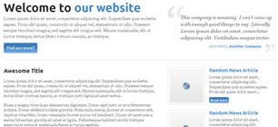 HTML5 Goodness Web Template