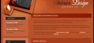 Interior Design Web Site Tasarımı