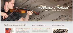 Music School Web Site Tasarımı