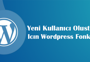Function to Create WordPress New User