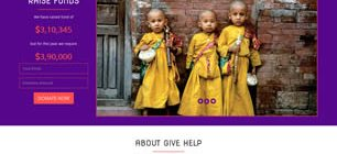 GIVE HELP Web Template